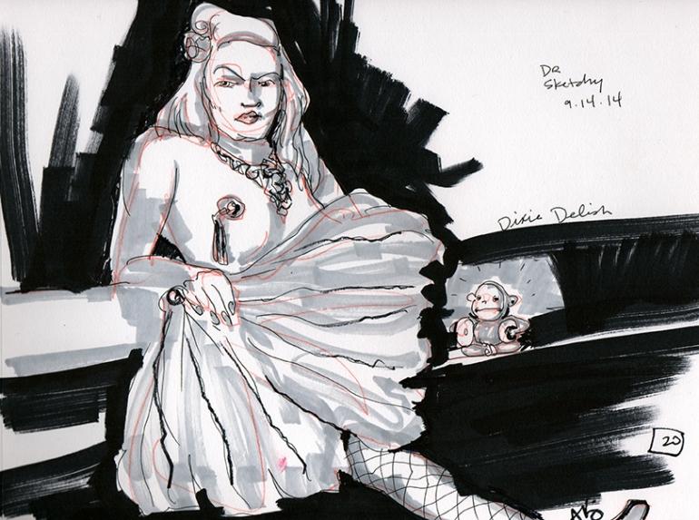 Dixie Delish, 20 Min Drawing
