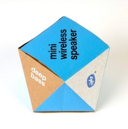 Bluetooth speaker package, brown paper